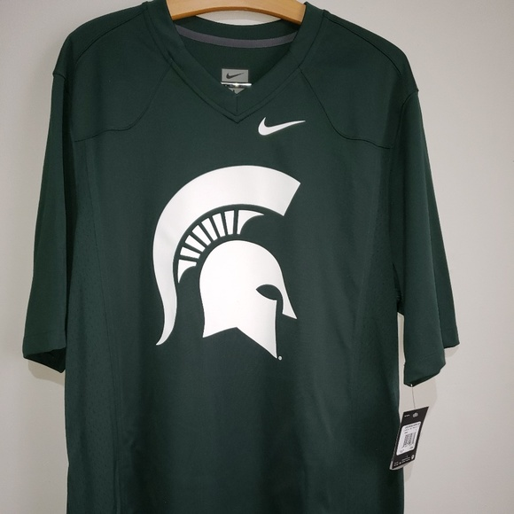 67895d96 Nike Shirts | Green White Michigan State Spartans Jersey | Poshmark